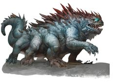 Basilisk (from the D&D fifth edition Monster Manual). Art by Ilya Shkipin.
