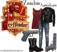 Harry Potter Dress, Harry Potter Style, Harry Potter Outfits, Harry Potter Houses, Hogwarts Houses, Zombie Apocalypse Outfit, Zombie Apocolypse, Apocalypse Survival, Desenhos Harry Potter