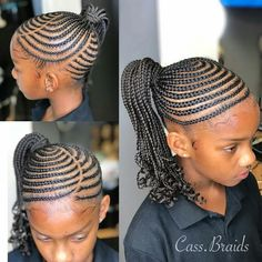 Top Creative Cornrow Hairstyles: The Best Ones Of 2018 You Should Try This Year … - All For Little Girl Hair Lil Girl Hairstyles, Black Girl Braided Hairstyles, Natural Hairstyles For Kids, African Braids Hairstyles, Braid Hairstyles, Protective Hairstyles, Goth Hairstyles, Teenage Hairstyles, Popular Hairstyles
