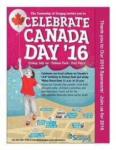 Canada Day Poster Scugog16 Canada Day, Fireworks, Celebrations, Invitations, Birthday, Poster, Birthdays, Save The Date Invitations, Shower Invitation