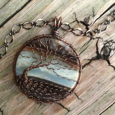 Extra Large Landscape Amazonite Copper Wire Wrapped Tree Of Life | DesignsinCopper - Jewelry on ArtFire: