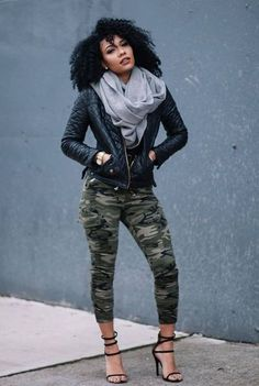 Camo Pants Outfit Ideas pin on fashion enzyme outfits ideas work outfits Camo Pants Outfit. Here is Camo Pants Outfit Ideas for you. Camo Pants Outfit pin on fashion enzyme outfits ideas work outfits. Camo Fashion, Black Women Fashion, Look Fashion, Urban Fashion, Fashion Outfits, Womens Fashion, Fashion Tips, Fashion Trends, Fashion Ideas