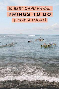 The 10 best Oahu Hawaii things to do, from a local. Oahu itinerary, Oahu Hawaii things to do in, Oahu Hawaii secrets, Oahu hikes, Oahu things to see, Oahu things to do North Shore, Oahu things to do map. #oahu #hawaii #honolulu #itinerary #waikiki #travel #tripideas Oahu Hawaii Map, Hawaii Hikes, Hawaii Usa, Hawaii Travel, Summer Travel, Oahu Things To Do, North Shore Oahu, Waikiki Beach