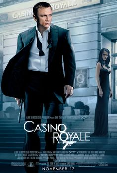 Daniel Craig, the sixth James Bond. The poster from Casino Royale, I think the best made James Bond film. James Bond Casino Royale, Casino Royale Movie, Uk Casino, Daniel Craig James Bond, Craig 007, Craig Bond, James Bond Movie Posters, James Bond Movies, James Bond Theme
