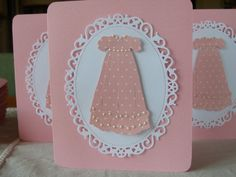 Baby Girl Christening/Baptism/shower card by BudgetCards on Etsy, €2.80