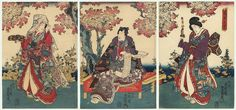 Flowers in Full Bloom, 1847 - 1852 by Toyokuni III/Kunisada (1786 - 1864)