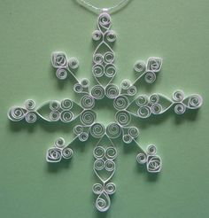 Christmas Decoration: 'Winter's Dream' gift packaged elegant, white quilled snowflake ornament Christmas ornament tree decoration winter