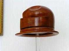 STUNNING wooden HAT BLOCK / form mould, Hutform, forme à chapeau | eBay