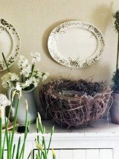 Some New Year Nesting & A Warm Hearted Giveaway Small Bathroom Window, Bathroom Windows, Gable House, Nest, Giveaway, Wreaths, Warm, Spring, Easter