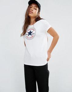 Camiseta blanca con logo clásico de Converse Blanco Mujer Tops [820402] -  €20.69 : Converse España En Linea, Zapatillas Converse Hombre