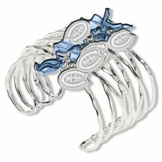 NHL Celebration Silvertone Bracelet NHL Team: Montreal Canadians LogoArt. $44.00 Jewelry Bracelets, Montreal, Nhl, Rings, Hockey, Celebration, Ring, Field Hockey, Jewelry Rings
