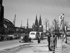 BlickvonDeutznachKöln, Charles-de-Gaulle-Platz, Köln - Deutz (1948)