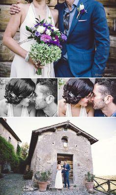 Destination wedding Italy - Dress Jenny Pakham - Borgo di Tragliata