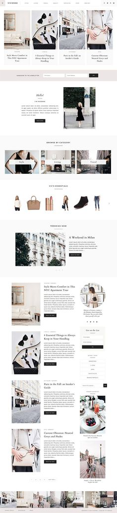 "NEW Wordpress Theme - Wordpress Ecommerce Theme - Photography Theme - Genesis Theme - ""Vivienne"" Instant Digital Download News Website Design, Blog Design, Web Design Inspiration, Page Design, Responsive Slider, Mobile Responsive, Website Header, Website Layout, Photography Themes"