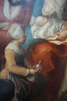 Pierre-Adrien CHOQUET (Abbeville, 1743 – Abbeville, 1813) La visite du médecin Huile sur toile Legs Choquet, 1880