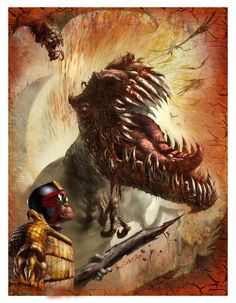 JUDGE DREDD cover painting by kevcrossley.deviantart.com