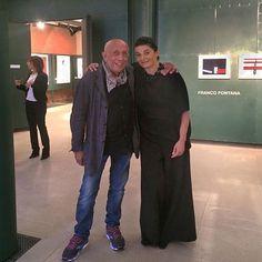 Franco Fontana e la curatrice Sandra Benvenuti