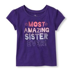 Toddler Girl's Short Sleeve 'Most Amazing Sister Ever' Graphic Tee