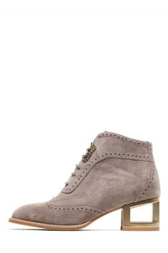 Jeffrey Campbell Shoes NEVILLE-MH New Arrivals in Taupe Suede Bronze