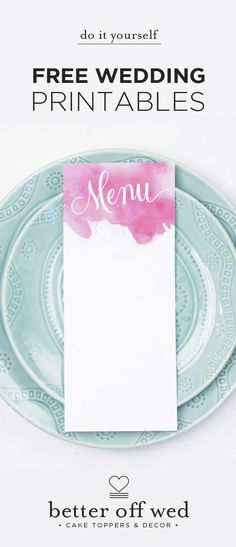 Umm, ladies… you NEED these!! The most gorgeous free wedding printables on the web <3 Pin now, thank me later! :-p