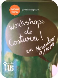 workshop Costura Criativa  Maria Carvão