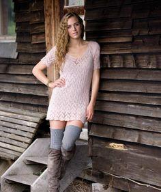 Damen-Minikleid im Lacemuster, 02202 #MerinoFineWool