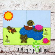 Pond Felt Playset ITH Embroidery Design by WhimsyWillowEmb on Etsy