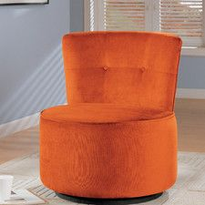 Candy Red Swivel Barrel Chair Accent Chairs Pinterest