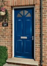 External doors made with finest timber and available in a Style of sizes. Magnet Trade are one of the UK's leading exterior wooden door suppliers. External Wooden Doors, Wooden Front Doors, Doorway, Joinery, Tall Cabinet Storage, My House, Stained Glass, Entrance, Hardwood