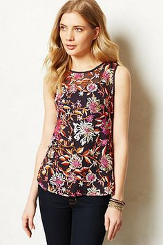 Love this flower patterned sleeveless top- great trend for spring and on sale