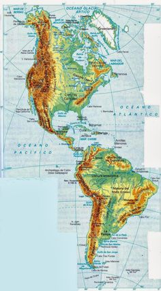 The Americas Mountain Ranges Map Pictures, Cool Pictures, World Geography Map, Countries In America, Fantasy World Map, Rpg Map, Adventure Magazine, North America Map, Map Tattoos