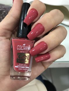34 trendy nail polish colors in spring 2019 Love Nails, How To Do Nails, Pretty Nails, My Nails, Gorgeous Nails, Red Acrylic Nails, Acrylic Nail Designs, Acrylic Art, Nail Paint Shades