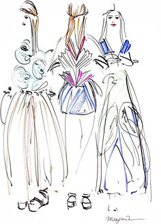 Meagan Morrison #illustrations #fashion #fashionillustration #MBFWRussia