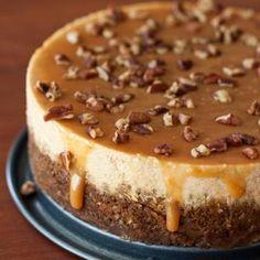 Pumpkin, Caramel, Pecan Cheesecake #Yum #Fall #Treats #Pumpkin