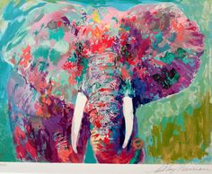 Love the mixed colors on this elephant
