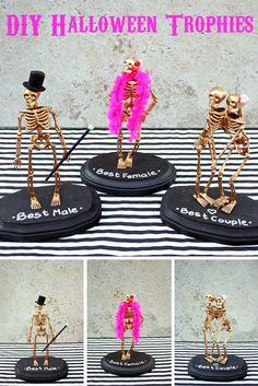 Halloween Party - DIY Halloween Trophies