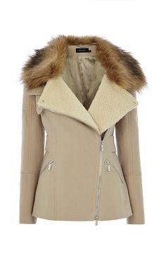 POSH MOLESKIN COAT   Luxury Women's outerwear   Karen Millen