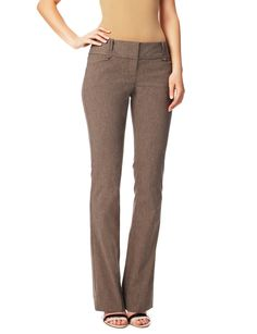 exact stretch pieced-waist bootcut pants | women's pants | THE LIMITED