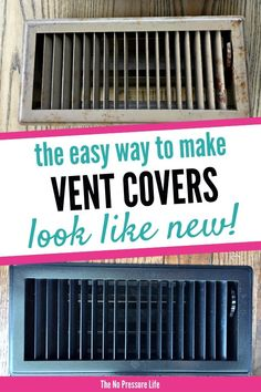 Find out how to paint metal vent covers with this easy DIY tutorial! Your old heat registers will look like new in just a few minutes! Super easy vent cover idea. #diy #diydecor