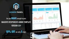 Dear our beloved customers, Thank you for download 3500+copies of Magento Responsive Admin Template on Cmsmart on 2014 and now on Sep 2015, we pride ourselves to release a new version that make you happier than ever and hope you will not miss this big chance to get it. Modern Design and easy-to-use admin template is the spotlight feature in version 3.0. To support you to use the nice template, we would like to offer you 10% OFF for this one on