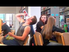Loud Eating in the Library! - YouTube