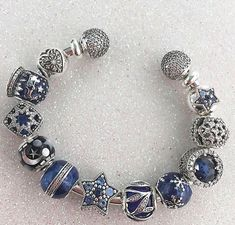 >>>Pandora Jewelry OFF! >>>Visit>> Blue jewellery gift idea for sapphire anniversary Fashion trends Fashion designers Casual Outfits Street Styles Pandora Moon, Pandora Open Bangle, Pandora Beads, Pandora Bracelet Charms, Pandora Jewelry, Sapphire Anniversary, Anniversary Jewelry, Pandora Collection, Bracelet Designs