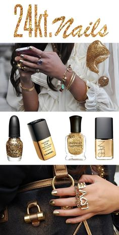 Fancy Gold nails