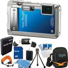 Olympus Stylus Tough 8010 Water/Shockproof Blue Digital Camera 14MP, 28mm 5X Zoom, 2.7