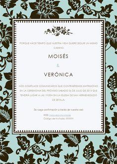 tarjeta invitación en azul
