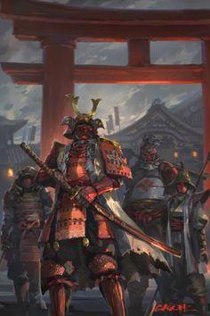 Fan art samurai by mr. For Honor Samurai, For Honor Armor, For Honor Viking, Medieval Fantasy, Dark Fantasy, Fantasy Art, Ronin Samurai, Samurai Warrior, Samurai Anime
