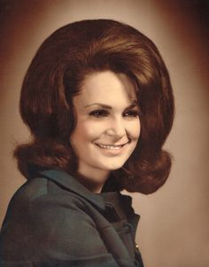 Remarkably Retro, This is some seriously big flipped  hair from the 1960s! ...