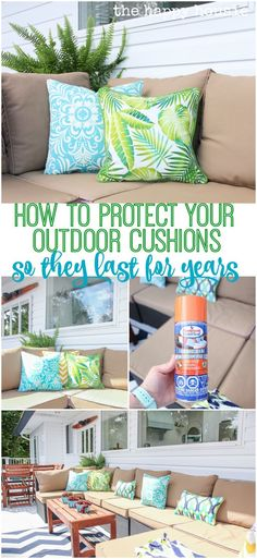 How to Protect Your Outdoor Cushions from the elements of summer so they last you for years