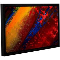 ArtWall Byron May Out from the Depth Gallery-Wrapped Floater-Framed Canvas, Size: 16 x 24, Red