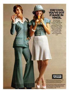 Vincel fashion advertisement - 1970s